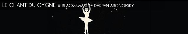 Cinéma : Black swan de Darren Aronofsky, avec Natalie Portman. Sortie le 9 février 2011.