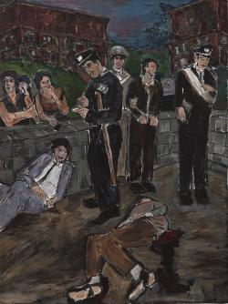 bob dylan, exposition, exhibition, copenhague, copenhagen, peinture, peintures, the brazil series, brazil series, statens museum for kunst, danemark