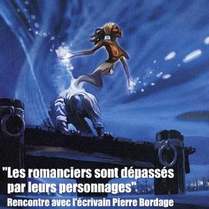 Portrait de l`écrivain de science-fiction Pierre Bordage