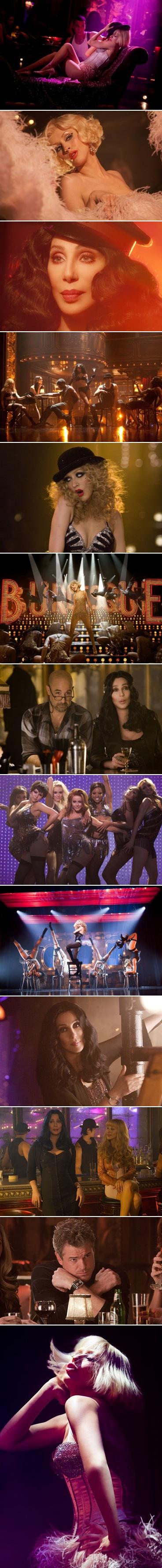 burlesque, christina aguilera, christina, aguilera, cher, stanley tucci, film, critique, analyse, chronique, steven antin, cabaret, lounge, chorégraphie, danse, chanson, musique, comédie musicale