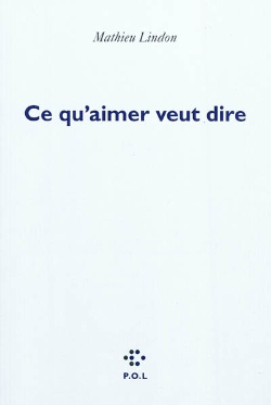 ce qu`aimer veut dire, ce qu`aimer, veut dire, aimer, amour, mathieu lindon, jérôme lindon, michel foucault, lindon, foucault, guibert, hervé guibert, roman, texte, analyse, critique, biographie