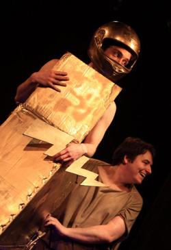 Dieu de Woody Allen, Manufacture des Abbesses, Nicolas Morvan, Sylvain Quimène, Yvan Lambert, théâtre