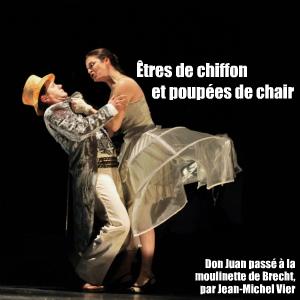 Théâtre : Don Juan de Bertolt Brecht, par Jean-Michel Vier, au théâtre de l`Oeuvre à Paris.