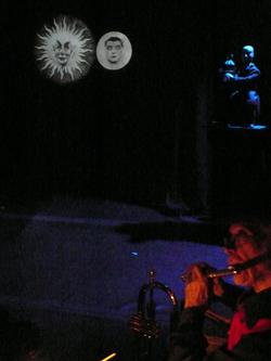 Méliès, Cabaret magique, théâtre de la vieille grille, Laurent Berman, Anne Quesemand, cinéma, courts-métrages, merveilleux, trucages, voyage dans la lune, magie, théâtre, musique