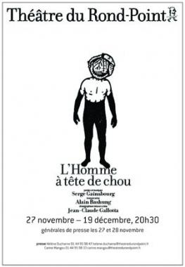 `L`homme à tête de chou`, ballet, Jean-Claude Gallotta, Théâtre du Rond Point, Serge Gainsbourg, Alain Bashung, danse, théâtre, marilou, chou, Mc2 Grenoble