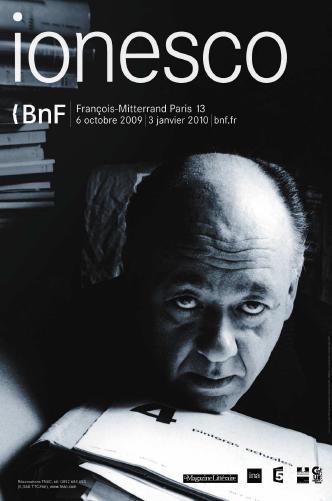 Ionesco exposition à la BnF Site François Mitterand photo photographies théâtre pièce la cantatrice chauve la leçon homme dérisoire manuscrits