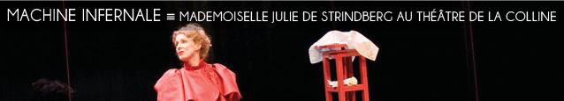 Théâtre : Mademoiselle Julie et Créanciers d`August Strindberg, mis en scène par Christian Schiaretti au Théâtre de la Colline, à Paris, jusqu`au 11 juin 2011.