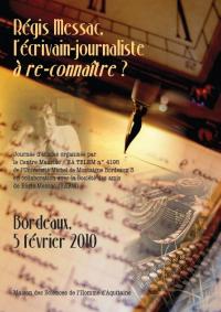 Journée d`études, Bordeaux 3, Régis Messac, un  écrivain-journaliste à reconnaître, critique littéraire,  science-fiction, roman policier