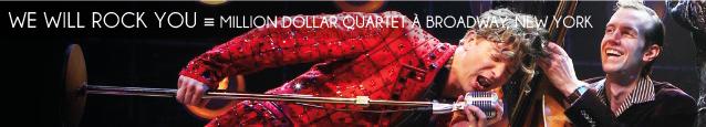 Comédie musicale : Million Dollar Quartet à Broadway.