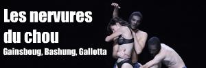 `L`homme à tête de chou`, ballet de Jean-Claude Gallotta au Théâtre du Rond Point. Paroles de Serge Gainsbourg & chant d`Alain Bashung.
