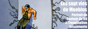 Portrait de l`auteur de bandes dessinées Jean Giraud, alias Moebius.