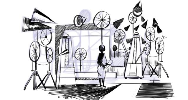 negation du temps, refusal of time, william kentridge, kentridge, laboratoire, paris, galison, peter galison, exposition, temps, time, miller, philip miller, musique, métronome, interview, citation