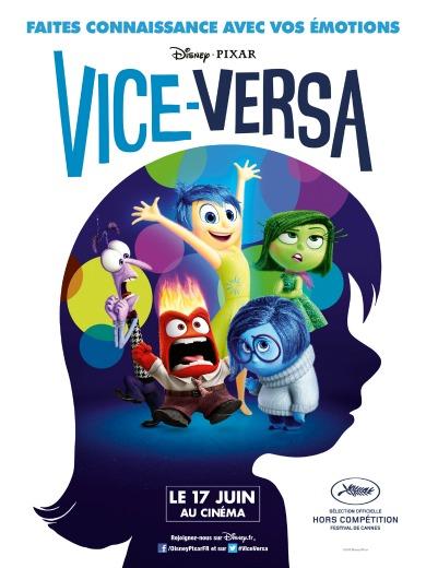 vice-versa, film, animation, studios, pixar, disney, psyché, émotions, joie, peur, dégot, peter docter, cinéma, là-haut, mindy kaling, enfant, phyllis smith, amy poehler, tristesse, analyse, avis