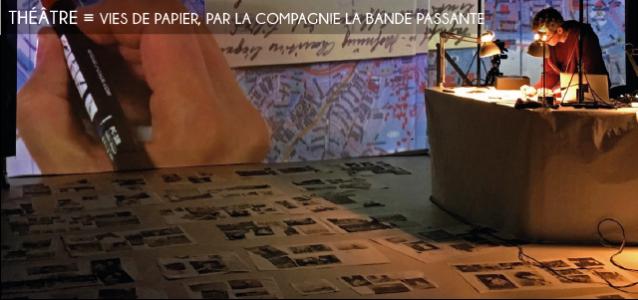 vies de papier, la bande passante, theatre d`objets, theatre documentaire, tommy laszlo, benoit faivre, album photo