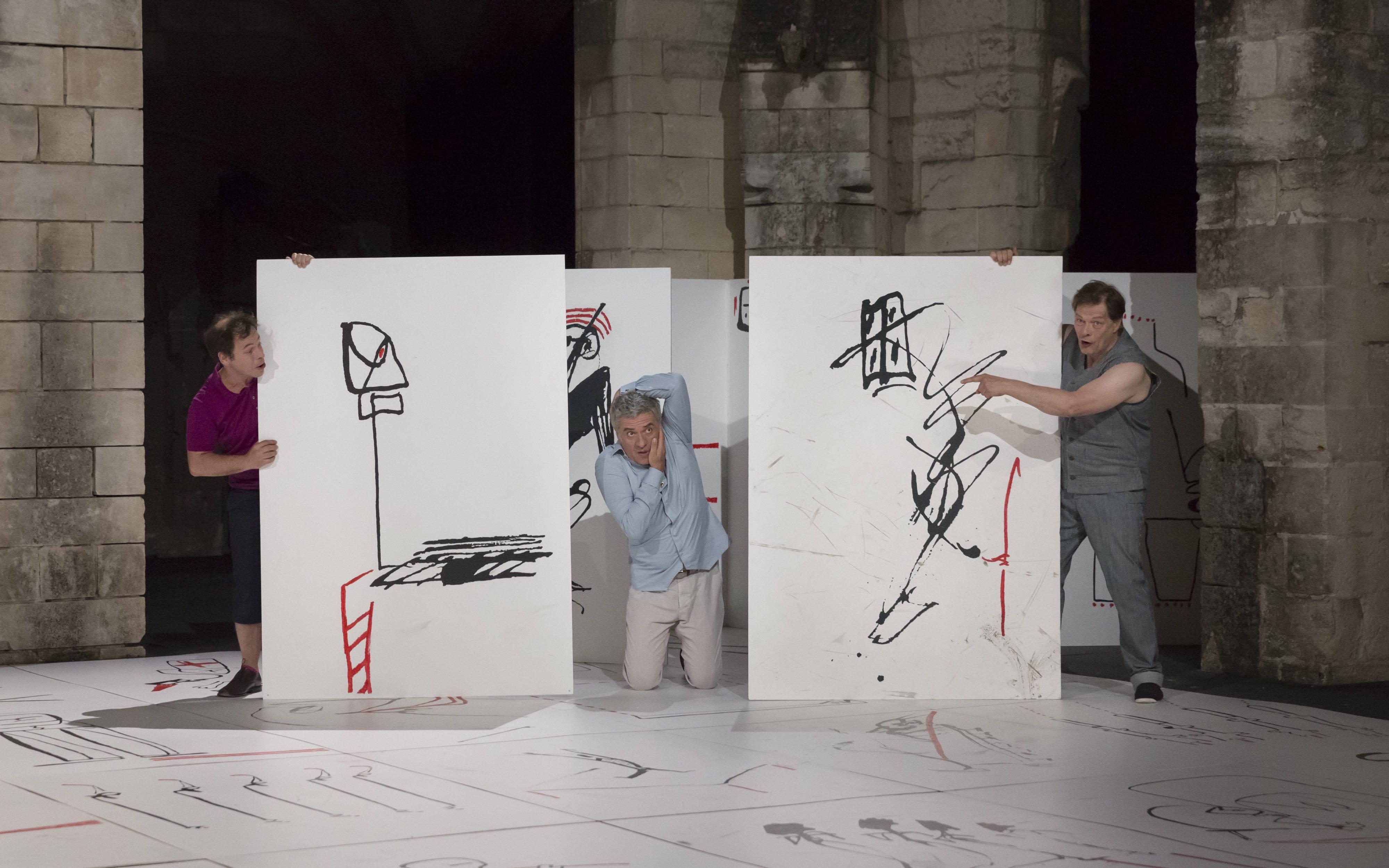 valere novarina, theatre 71, agnes sourdillon, claire sermonne, metatheatre, langage, poetique, corps